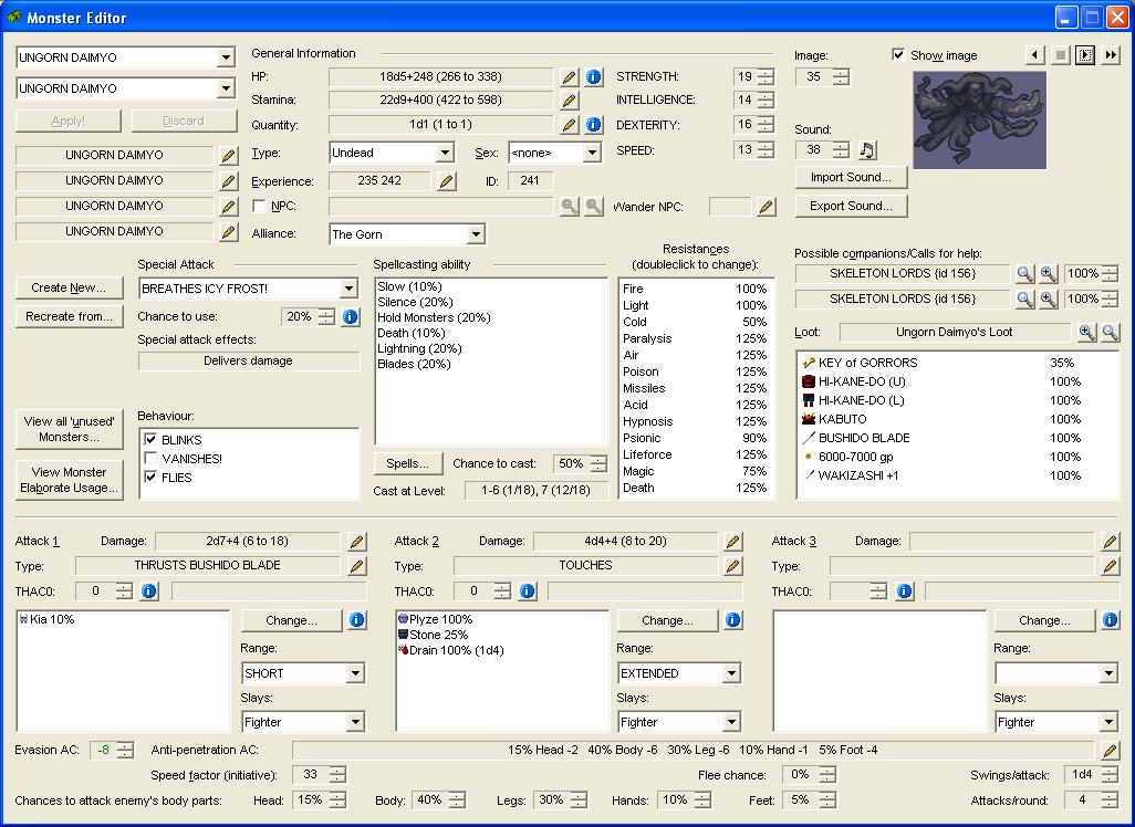 Monster Editor for W7